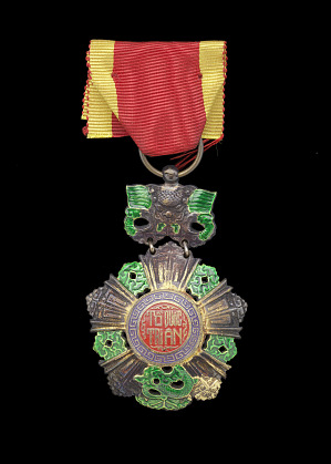 Image for Knight's badge of the National Order of Vietnam issued to First Lt. John Warren