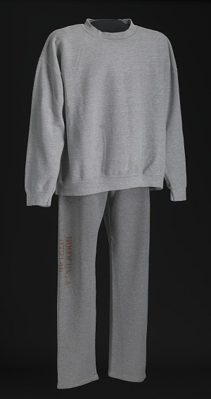 Image for Grey sweat shirt and pants worn by Albert Woodfox while incarcerated