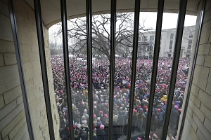 Image for Digital image of a crowd of marchers from the Women's March