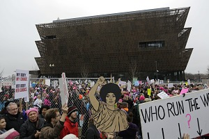 Image for Digital image of a crowd of marchers during the Women's March