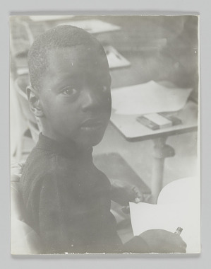 Image for Portrait of an unidentified student in kindergarten class