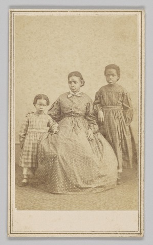 Image for Carte-de-visite of a young woman and two children