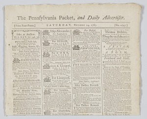 Image for The Pennsylvania Packet, and Daily Advertiser No. 2747