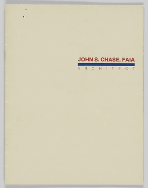 Image for Brochure about John S. Chase, FAIA Architect