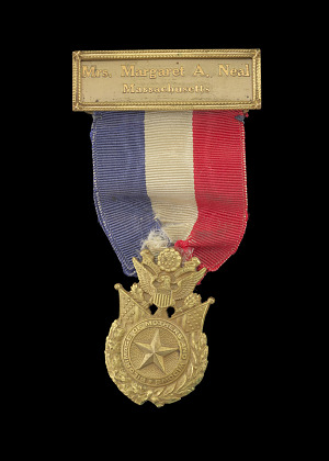 Image for World War I Gold Star Mothers Pilgrimage Medal issued to Mrs. Margaret A. Neal