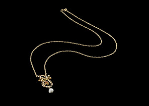 Image for Necklace worn by Jessie Greer, gifted to her by George J. Jones