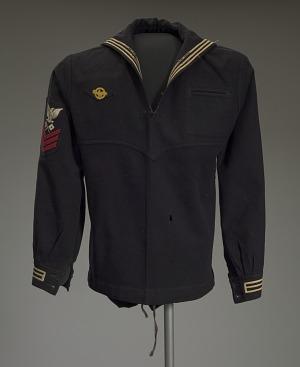 Image for US Navy dress jumper worn by Lorenzo DuFau on USS Mason