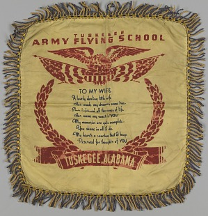 Image for Pillow sham with Tuskegee Flying School poem