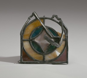 Image for Stained glass rosette shard from the 16th Street Baptist Church