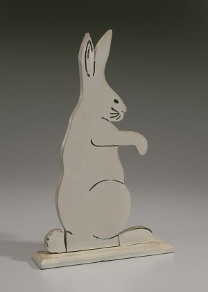 Image for Decorative bunny from the porch of the Powell family vacation cottage