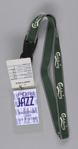 Image for Backstage pass for Pori Jazz Festival used by Ira Tucker