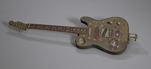 """Image for Voodoo Guitar """"Marie"""" made by Don Moser with debris from Hurricane Katrina"""