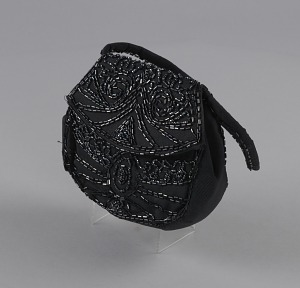 Image for Black beaded handbag from Mae's Millinery Shop