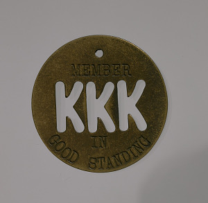 Image for Member token used by Nelda Rowan to ensure safe passage in South Carolina