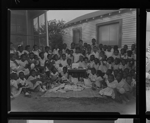 Image for Outdoor Group Shot of Children at a Birthday Party, Ruby Washington