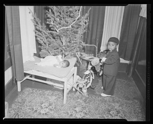 Image for Indoor Photo of a Toddler Boy and an Infant, Westeen Jackson