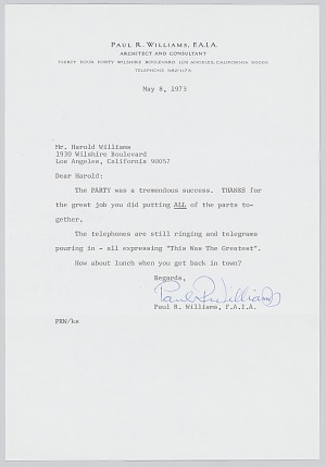 Image for Letter and envelope from Paul Williams to Harold Williams
