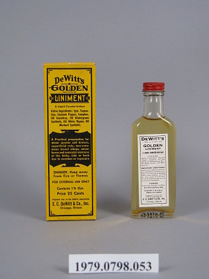 DeWitt's Golden Liniment | Smithsonian Institution