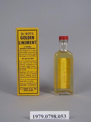DeWitt's Golden Liniment | Smithsonian Institution