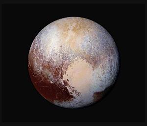 Pluto in False-Color