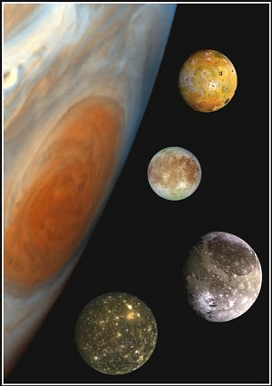 Jupiter And Its Four Largest Moons