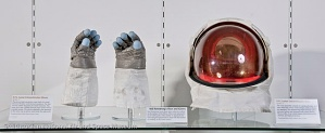 Apollo 11 Extra-Vehicular Gloves and Visor Assembly