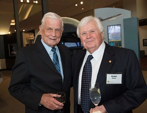 Richard Russell and Col. Bud Anderson