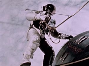 Edward White's First Spacewalk