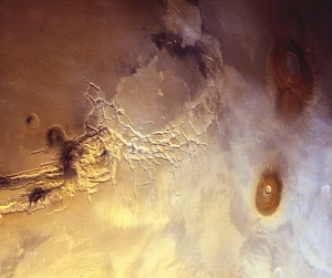 Part of Valles Marineris canyon system on Mars