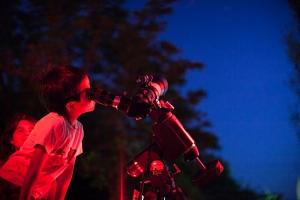 Telescopic observing draws young visitors