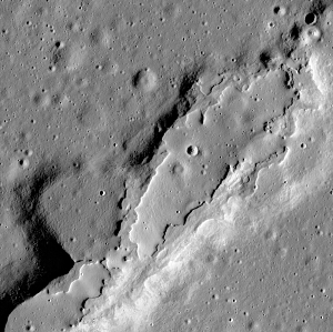 Collapsed Area of Moon
