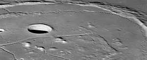 Cracked Crater on the Moon