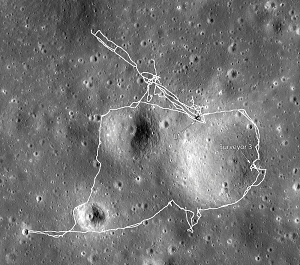 Apollo 12 Landing Site Map