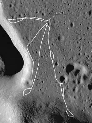 Apollo 15 Landing Site Map