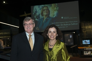 Christian Foster and Dr. France Córdova