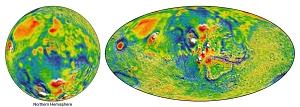 Mars Gravity Map