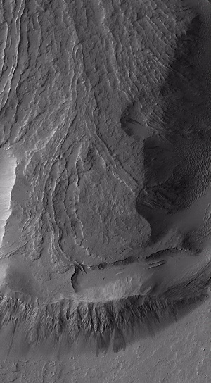 Lava Flow from Olympus Mons