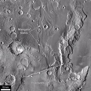 Mangala Vallis, Mars