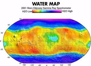 Hydrogen Map -- Martian Soil