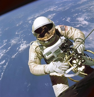 Ed White performing the first EVA
