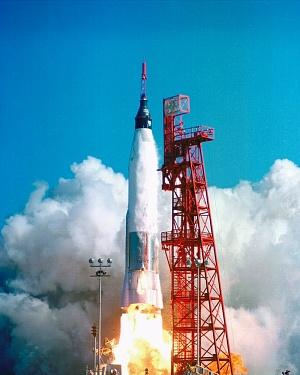 U.S. Air Force Atlas ICBM launched John Glenn