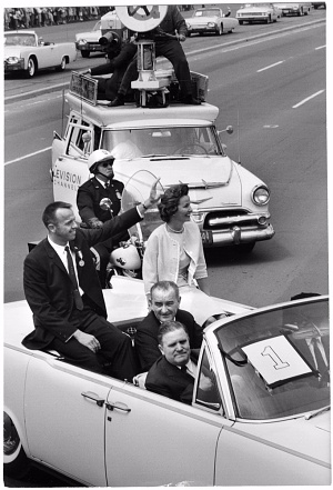 Alan Shepard received an award from President Kennedy