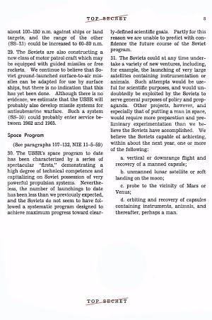 CIA Estimate - Soviet Space Program