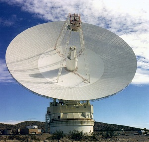 Front View of the 70m antenna at Goldstone, California