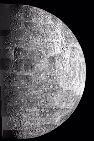 Photomosaic of Mercury- Outbound View