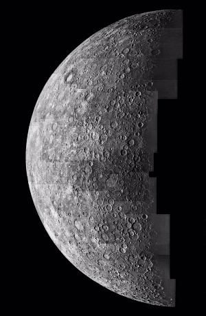 Photomosaic of Mercury- Inbound View