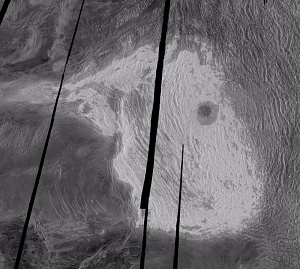 Maxwell Montes and Cleopatra Crater on Venus