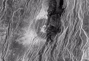 Crater Somerville on Venus
