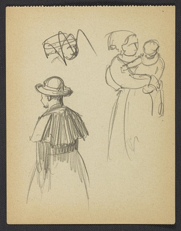 thumbnail image for Agnes Anne Abbot sketch of people
