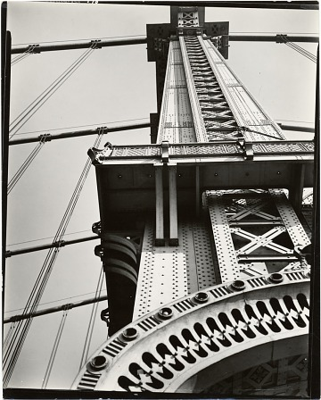 thumbnail image for Manhattan Bridge looking up